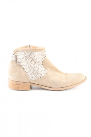 Éram Ankle Boots cream-white graphic pattern casual look