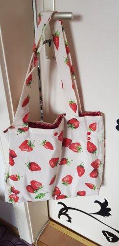 Erdbeer Tasche shopper handmade beutel