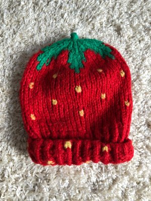River Island Beanie neon red-green