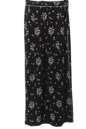 ERDEM x H&M Falda pantalón de pernera ancha negro-blanco puro look casual