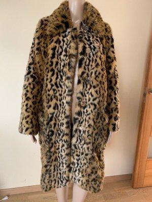 Erdem x H&M leopard faux fur coat