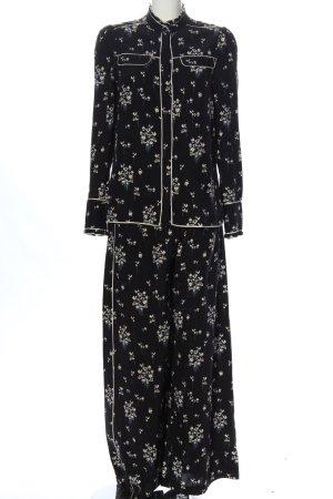 ERDEM x H&M Ensemble en tricot noir-blanc imprimé allover style classique