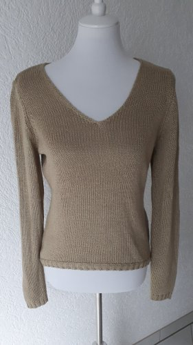 Blue Motion Coarse Knitted Sweater beige