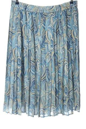 Erfa Rozkloszowana spódnica niebieski-w kolorze białej wełny W stylu casual