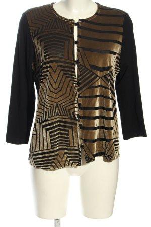 Erfo Veste chemisier noir-brun motif graphique style d'affaires