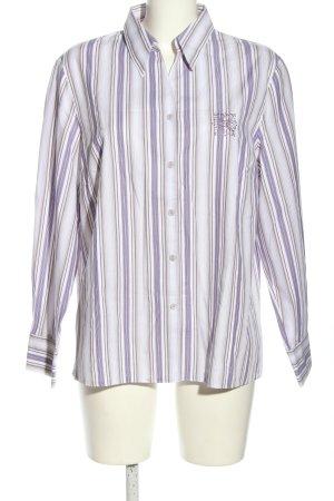 Erfo Hemd-Bluse weiß-blau Streifenmuster Casual-Look