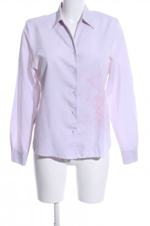 Erfo Langarm-Bluse pink Allover-Druck Business-Look
