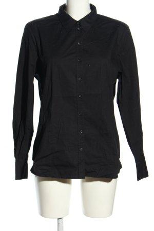 Erfo Langarmhemd schwarz Casual-Look