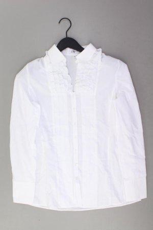 Erfo Blouse à volants blanc cassé coton