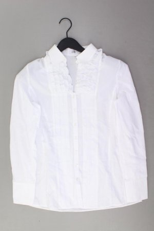 Erfo Bluzka z falbankami w kolorze białej wełny Bawełna