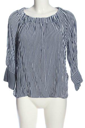 Erfo Schlupf-Bluse blau-weiß Streifenmuster Casual-Look
