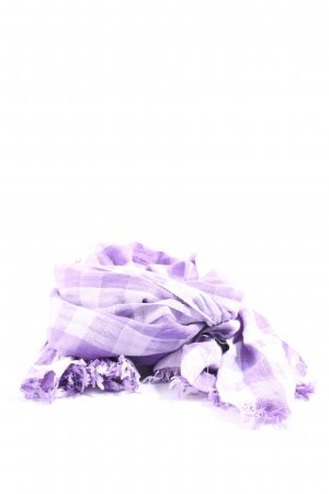 Erfurt Fringed Scarf lilac-white check pattern casual look