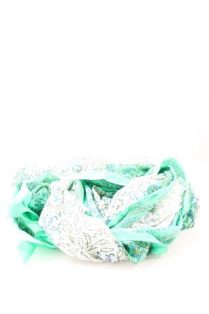 Erfurt Corbata verde-blanco estampado temático look casual