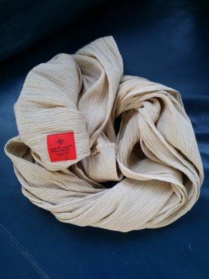 Erfurt Écharpe tube brun sable coton