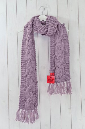 Erfurt Knitted Scarf mauve wool