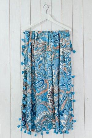 ERFURT LUXURY Tuch Accessoires Damen Quadrat Satin Paisleymuster Trottel 5568