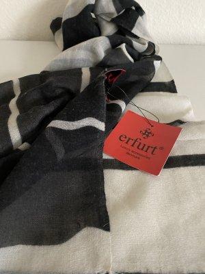 Erfurt Écharpe en soie noir-blanc cassé