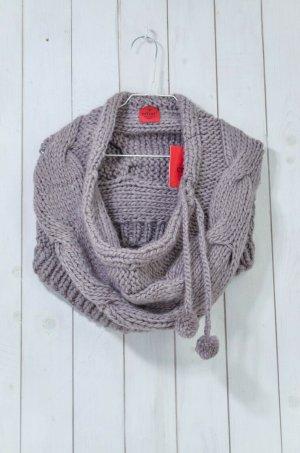 Erfurt Tube Scarf mauve-grey lilac wool
