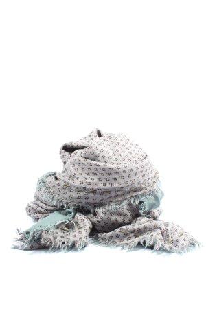 Erfurt Écharpe en soie gris clair-bleu imprimé allover style décontracté