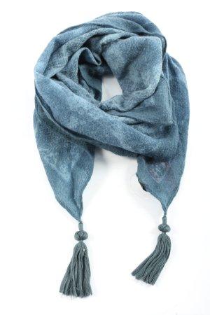 Erfurt Écharpe en laine bleu style décontracté