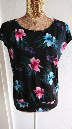 ergee Sport Shirt tropical Blumen Hibiskus