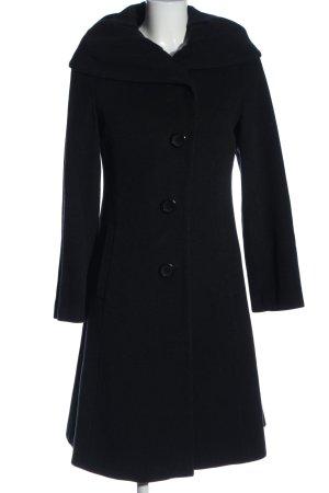 Erich Fend Długi płaszcz czarny W stylu casual