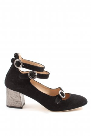 Erika Rocchi Mary Jane Pumps black-light grey casual look