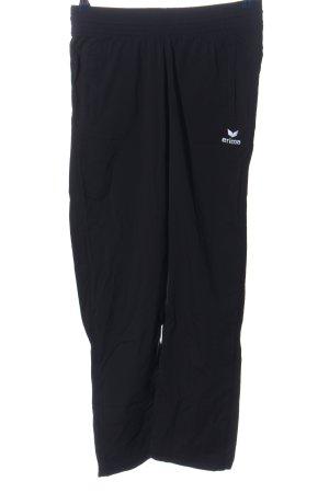 Erima Sporthose schwarz Schriftzug gestickt Casual-Look