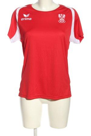 Erima Sportshirt rot-weiß Motivdruck Casual-Look
