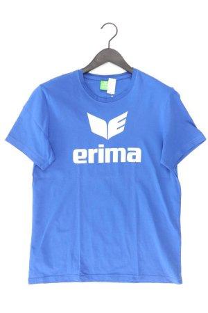 Erima Sportshirt Größe M Kurzarm blau aus Baumwolle