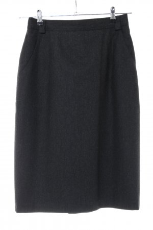 erle by A.A. ERLHOFF Wool Skirt black flecked business style