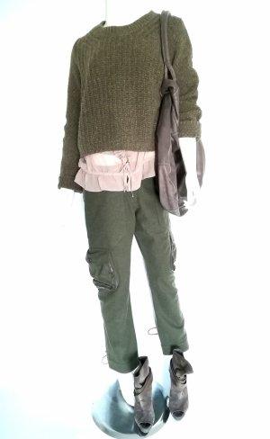 Pantalone di lana verde scuro