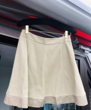 Ermanno Scervino Jupe en lin beige-beige clair soie