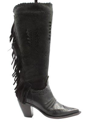 Ermanno Scervino Wysokie buty na obcasie czarny W stylu casual