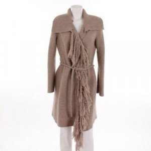 Ermanno Scervino Knitted Coat beige mixture fibre