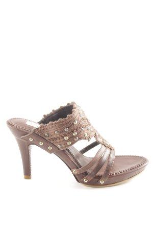 Ermanno Scervino Riemchen-Sandaletten bronzefarben Casual-Look