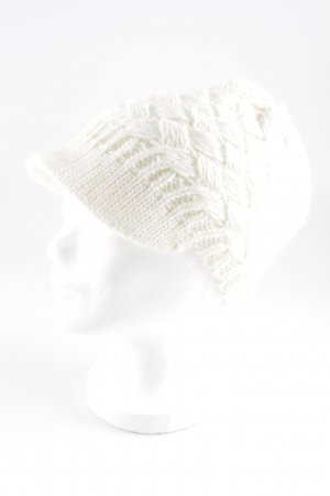 Ermanno Scervino Knitted Hat natural white casual look