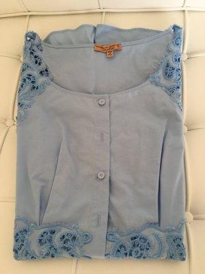 Ermanno Scervino Blusa a tunica azzurro Cotone