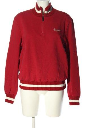 Ermenegildo Zegna Sweatshirt rot-wollweiß Casual-Look