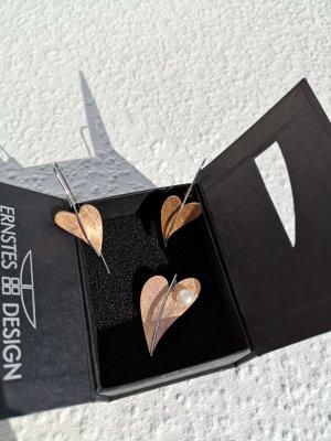 Ernstes Design Stahlschmuck Herz Perle Kupfer Silber Anhänger Ohr