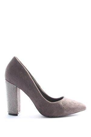 ERYNN High Heels braun-silberfarben Elegant
