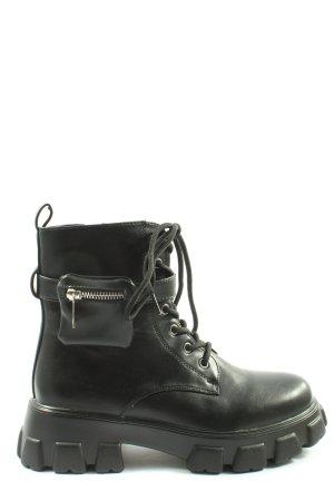 ERYNN Combat Boots black casual look