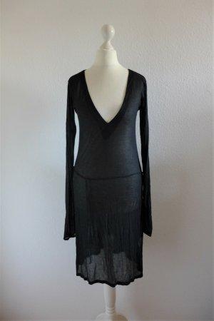 Es'Givien ES195 Scandi Langarm Kleid schwarz zart Gr. S 36 neu