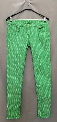 Patrizia Pepe Pantalone a sigaretta verde-bianco Cotone