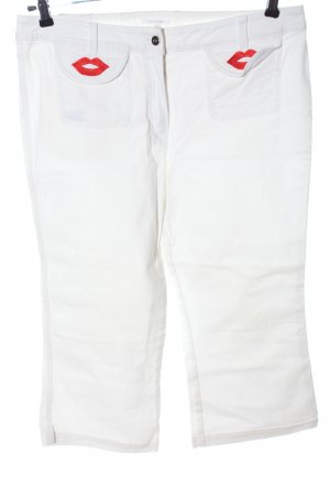 Escada Jeans a 3/4 bianco Stampa a tema stile casual