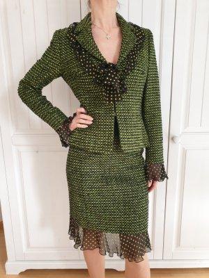 Escada Blazer in maglia nero-verde
