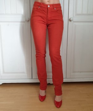 Escada 34 XS Jeans Orange Schlaghose Schlagjeans Baggy pants Dad Hose True Vintage Bundfalten