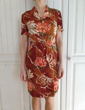 Escada 34 XS Seidenkleid Seide Kleid Sommerkleid True Vintage Hemdkleid Blusenkleid Midikleid Blusekleid