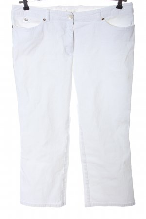 Escada Jeansy 7/8 biały W stylu casual