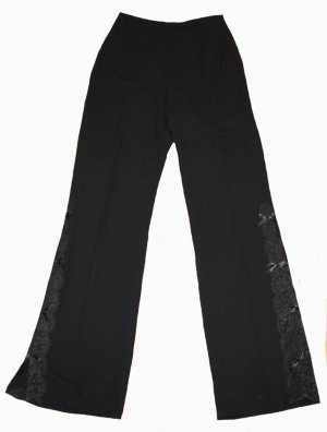 Escada Palazzo Pants black new wool